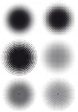 Grungy halftone dots