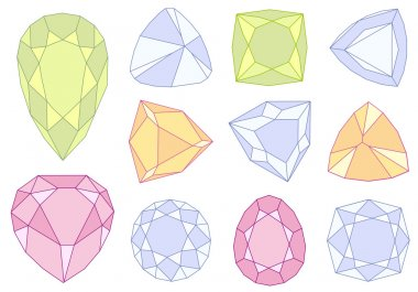 Gem stones, vector