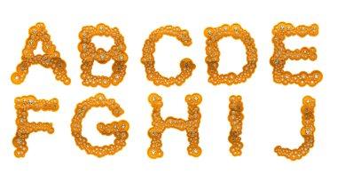 Golden Diamond A-J letters