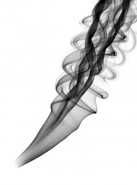 Abstract black smoke pattern