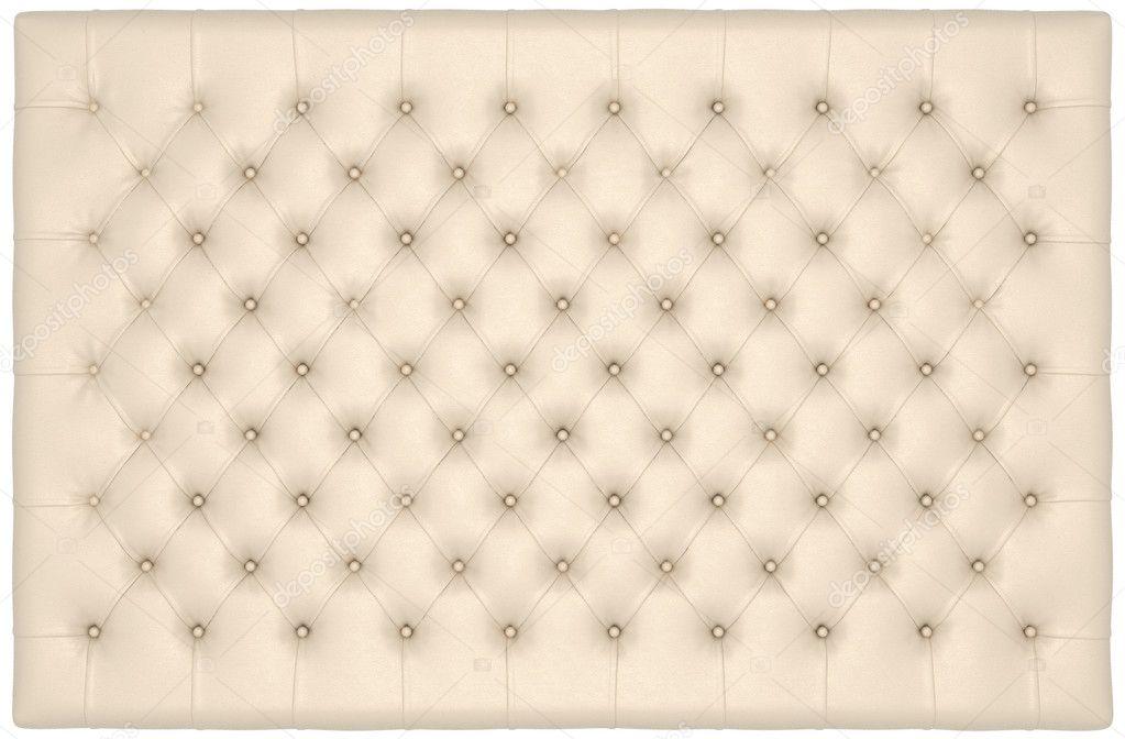 Beige Luxury buttoned leather mattress