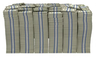 Too Much money. Huge pile of US dollars