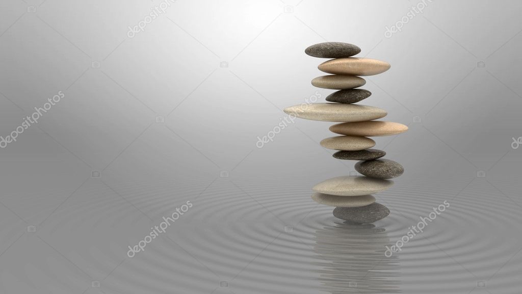 Harmony and balance concept. Pebbles stack