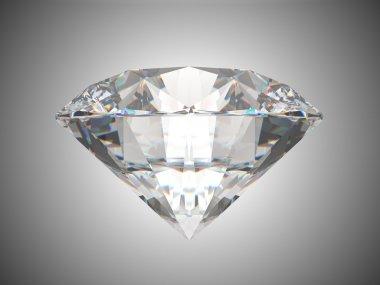 Side view of brilliant cut diamond
