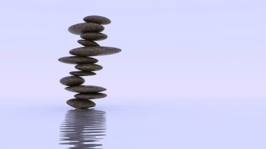 Stability and balance. Plie of Pebbles