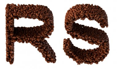 Roasted Coffee font S and R letters