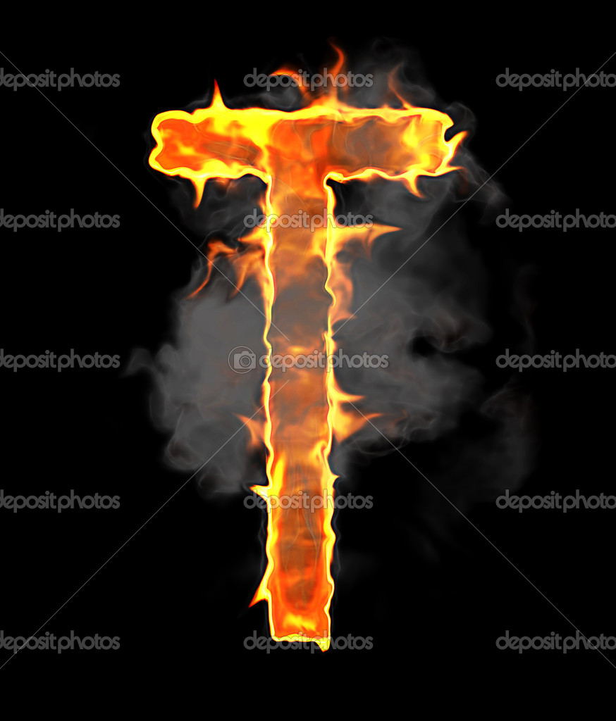 Burning and flame font t letter over black stock photo arsgera burning and flame font t letter over black background photo by arsgera thecheapjerseys Image collections