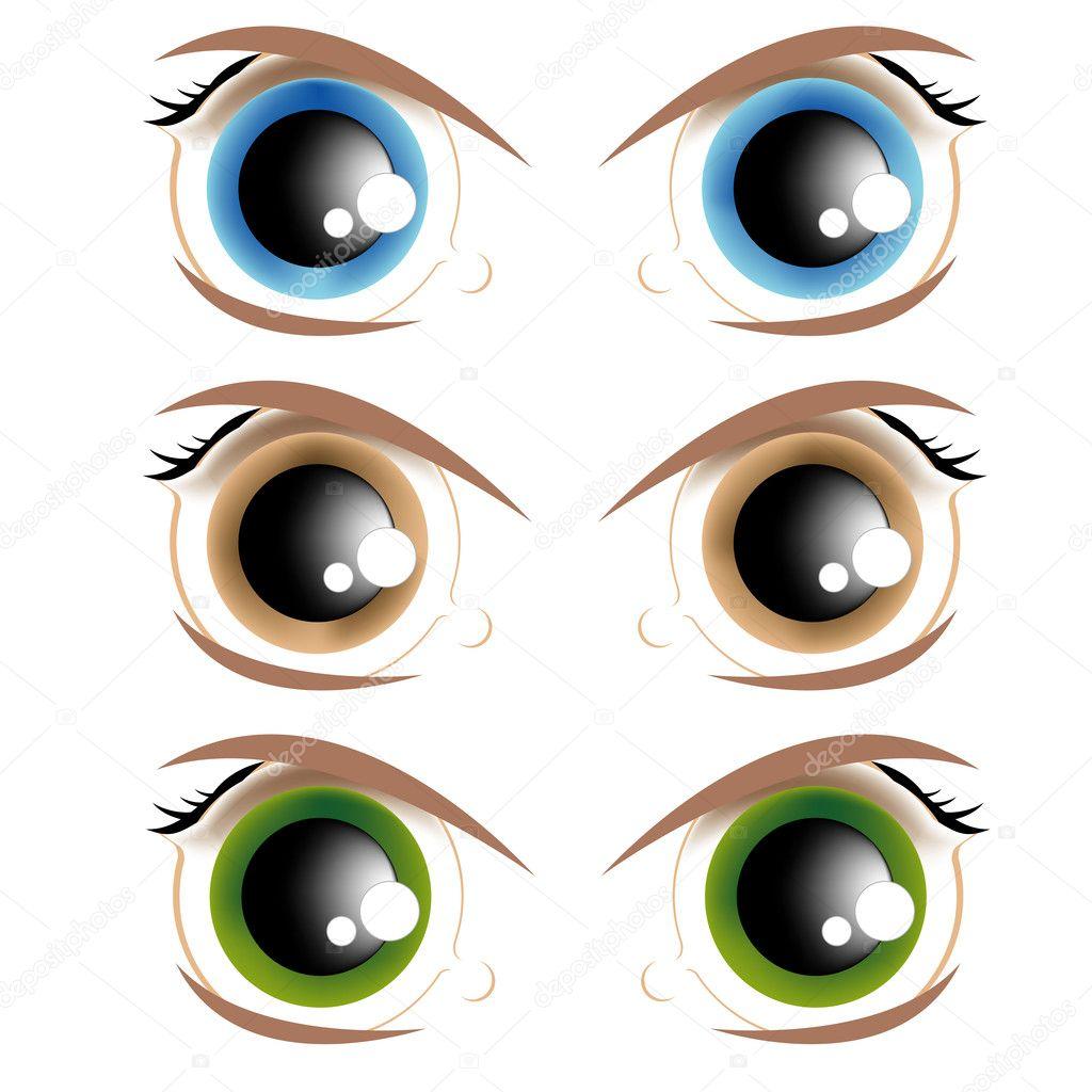 animierte Augen — Stockvektor © pzRomashka #5016014