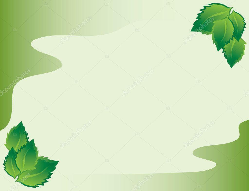 marco con hojas de abedul — Vector de stock © pzRomashka #5036849