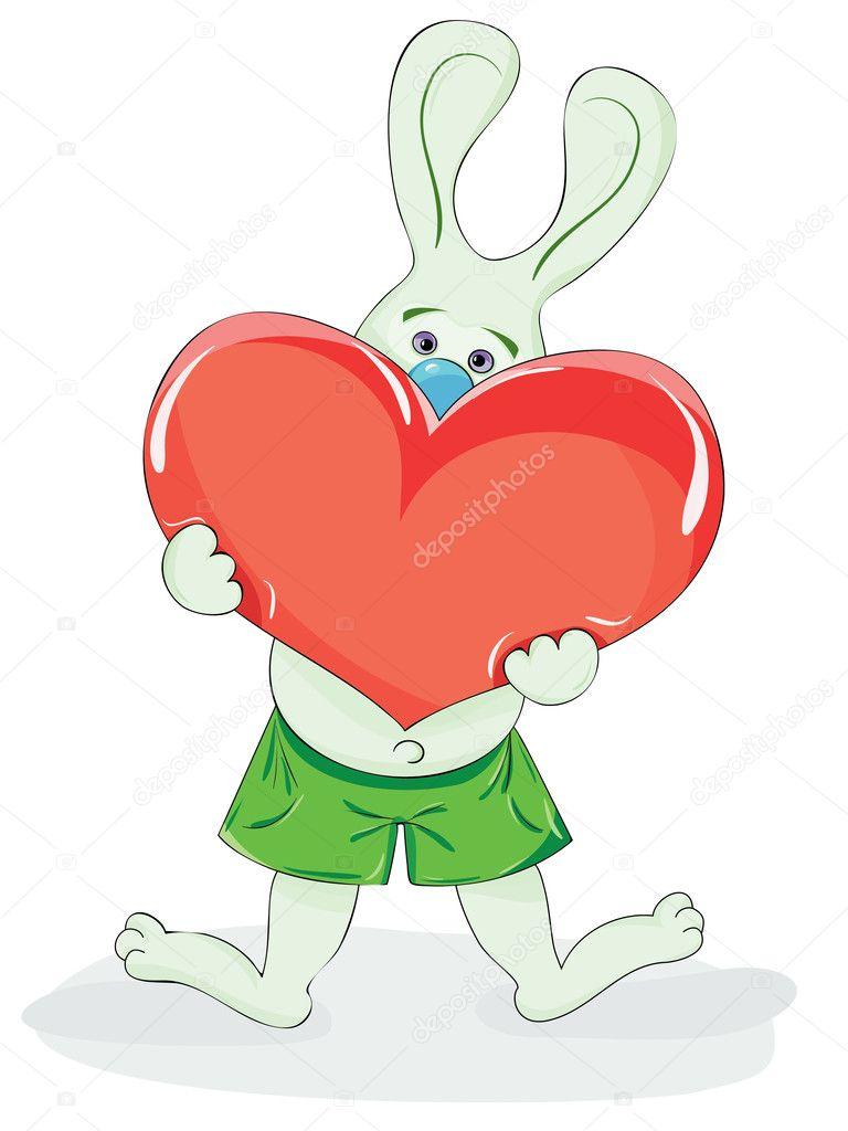 Заяц с сердцем картинки, анимации блестяшки картинка