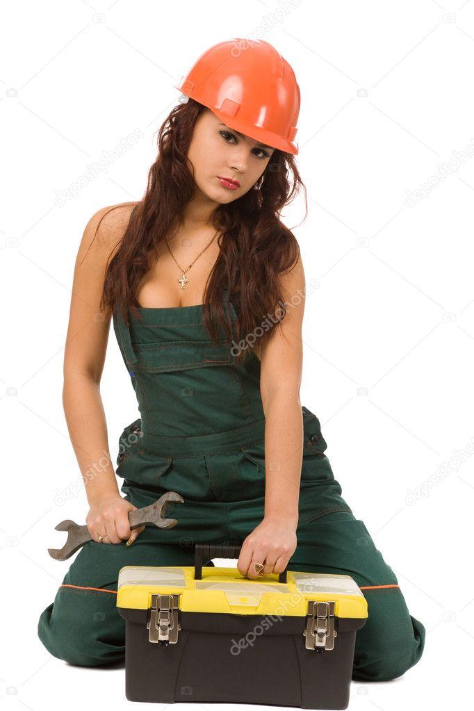фотографии девушек в строительной униформе четвереньках