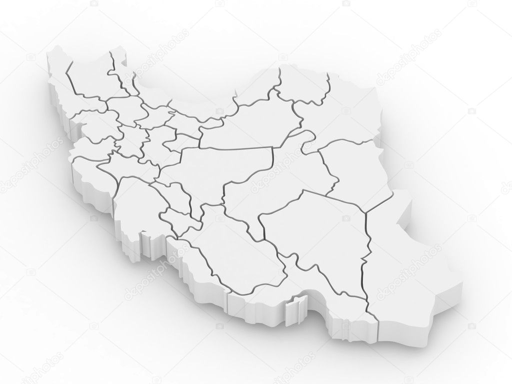 Three dimensional map of iran stock photo maxxyustas 5269578 three dimensional map of iran stock photo buycottarizona Choice Image
