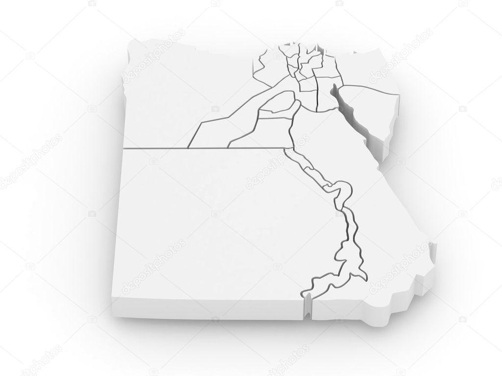 Threedimensional Map Of Egypt D Stock Photo Maxxyustas - Map of egypt 3d