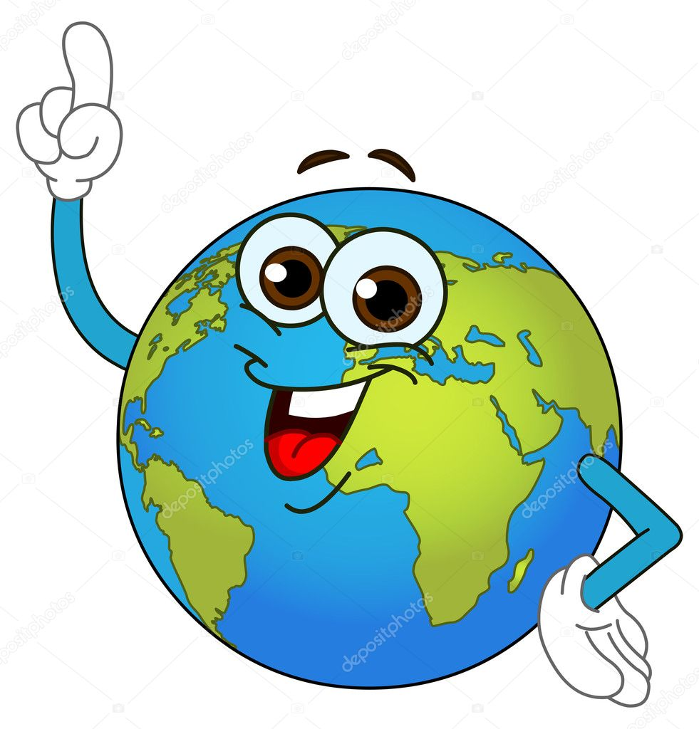 World globe cartoon