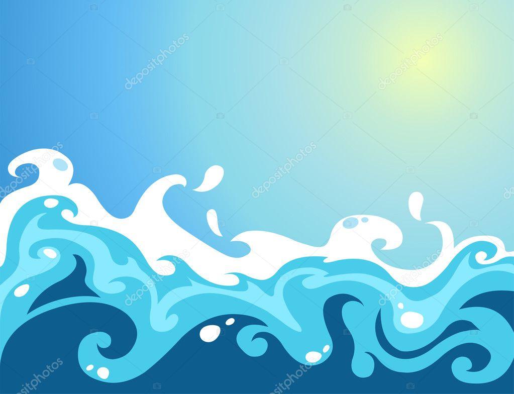 Как рисовать морские волны