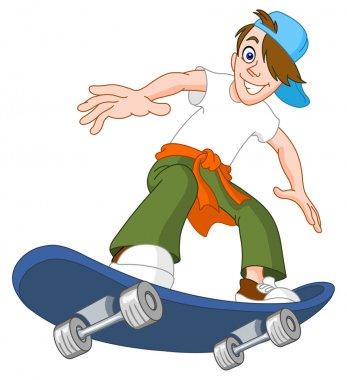 Skateboard boy stock vector