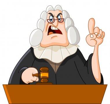 Vector cartoon illustration of a judge