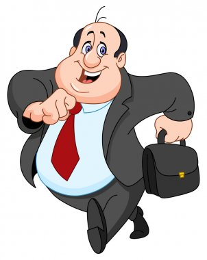 Vector cartoon of a cheerful businessman