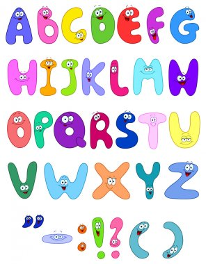 Vector cartoon set of the abc letters
