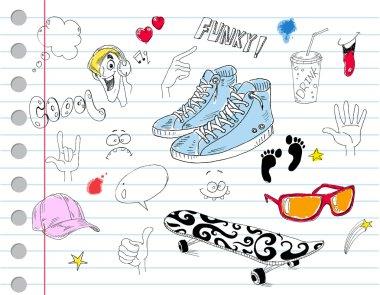 Cool notebook doodles
