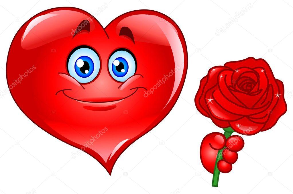 srdce s růží — Stock Vektor © yayayoyo #4762821