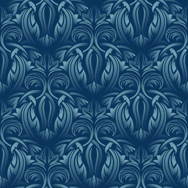 Blue seamless wallpaper pattern