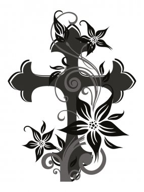 background with decorated cross