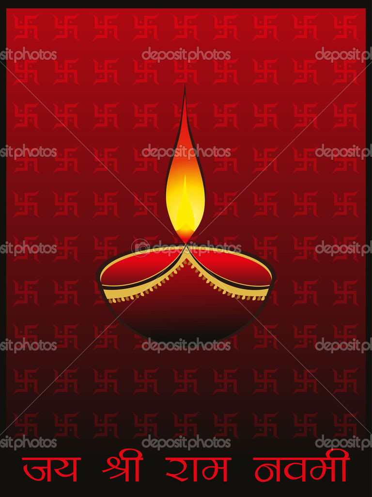 Hakenkreuz Hintergrund Mit Brennenden Lampe Stockvektor
