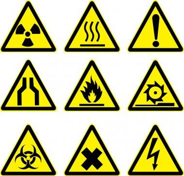 Warning signs vector work.
