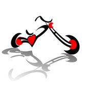 Fotografia cuore rosso Chopper