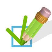 Zelená tužka