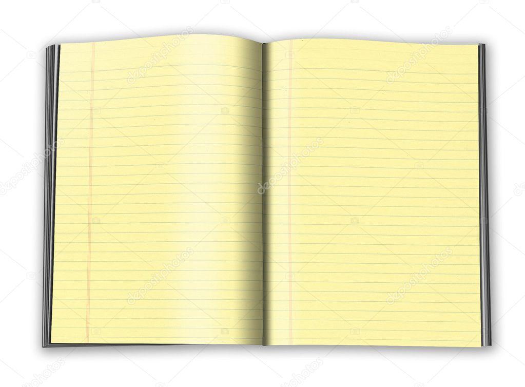 cuaderno con hojas amarillas — Fotos de Stock © pakmor #4179691