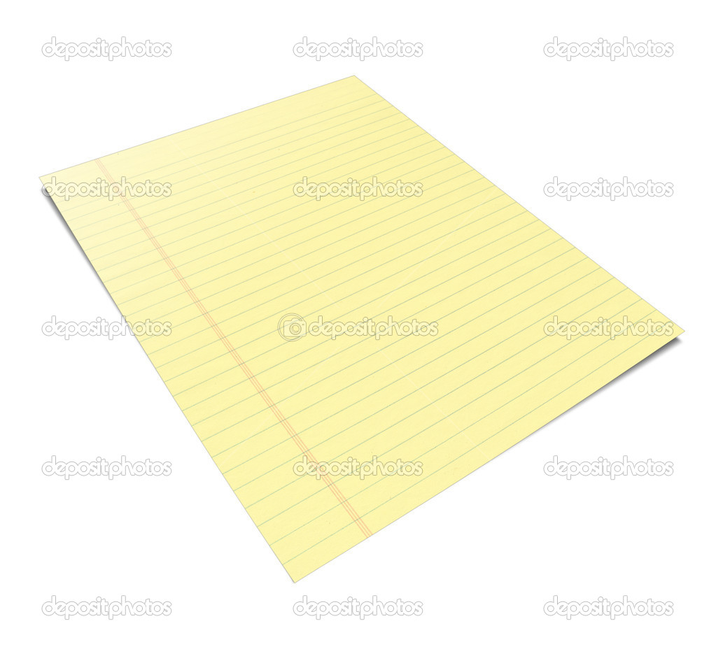 cuaderno con hojas amarillas — Foto de stock © pakmor #4179730