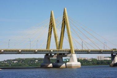 Bridge across the river, city Kazan, Russia