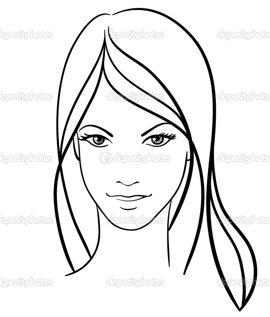 Women S Beauty And Fashion Logo Vector:  Beauty Girl Face Vector Icon Stock Vector Prezent #4678644