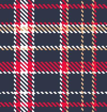 Classic tartan fabric. Seamless vector pattern
