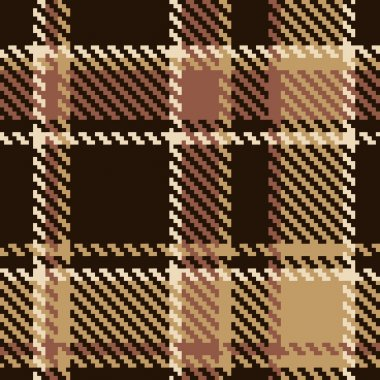 Seamless tartan brown abstract pattern