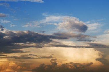 Multicolor beautiful cloudscape sunset stock vector