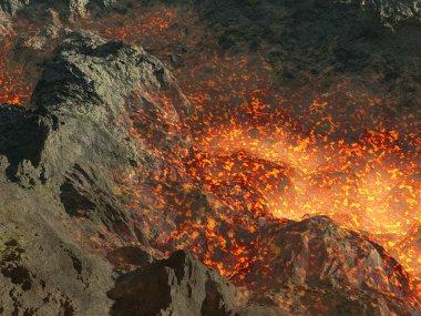 Lava in mountain