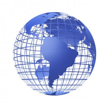 Transparent the globe blue color