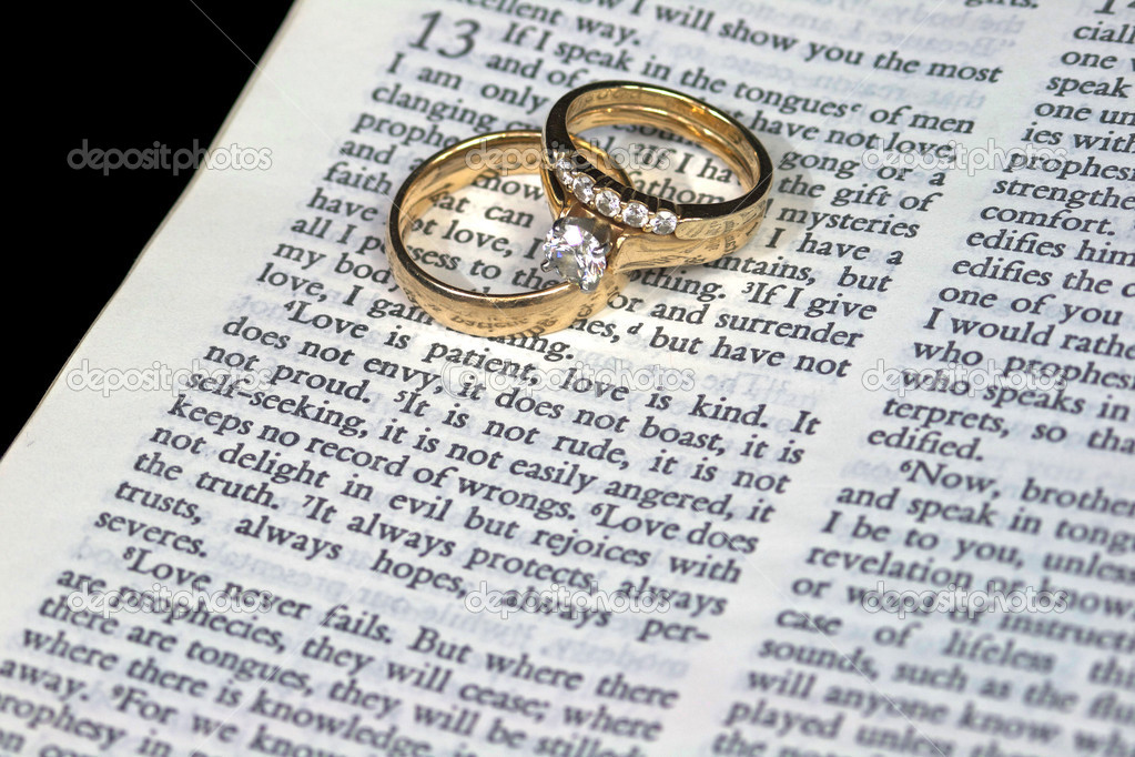 Love Is Patient Bible Verse With Rings Stock Photo C Deepspacedave