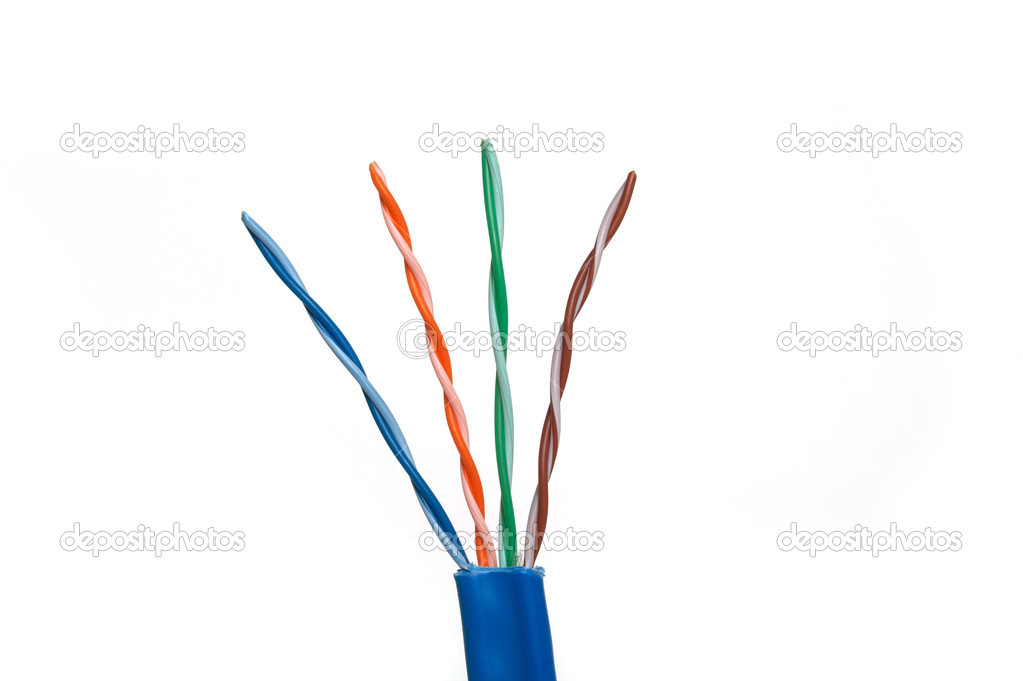 Category 6 Network Cable Twisted Pairs — Stock Photo © deepspacedave ...