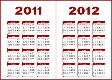 Calendar 2011,2012.
