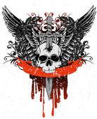 Totenkopf mit Flügeln