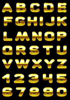 Font with effect of gold