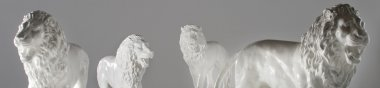 Statues in grey studio