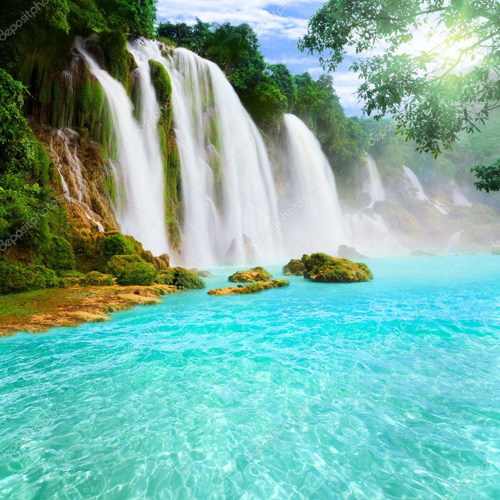 Фотообои Detian waterfall