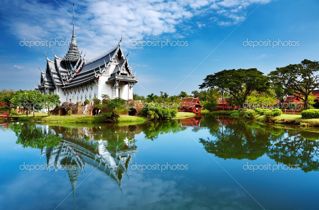 xinhua china anhui laian pond cypress scenery scenery -