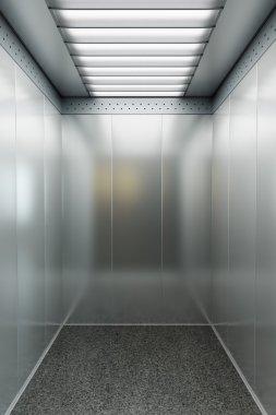 Modern elevator 3d render