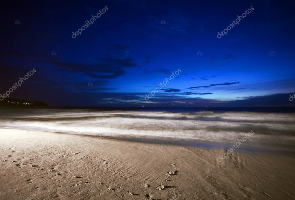 Night at the tropical beach
